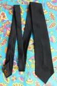 Sirodair funeral tie Morris's Wembley plain black Terylene vintage 1950s vgc